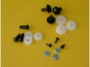 Sicherheitsaugen 14 mm schwarz